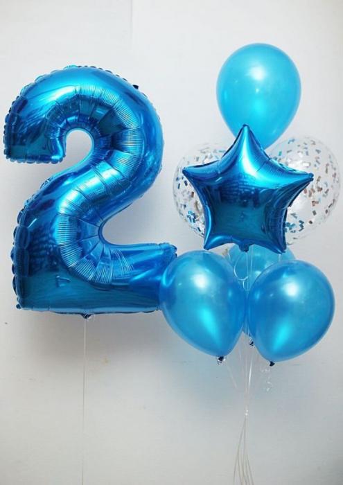 Buchet aniversar baloane cu heliu cifra 0
