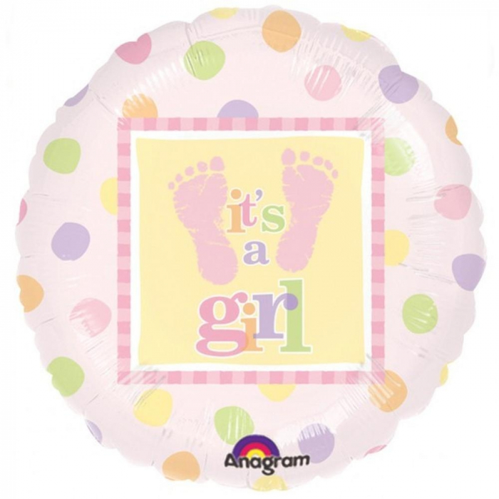 Baby Steps – Girl Foil Balloon 45 cm 1 buc DB111057-01 0