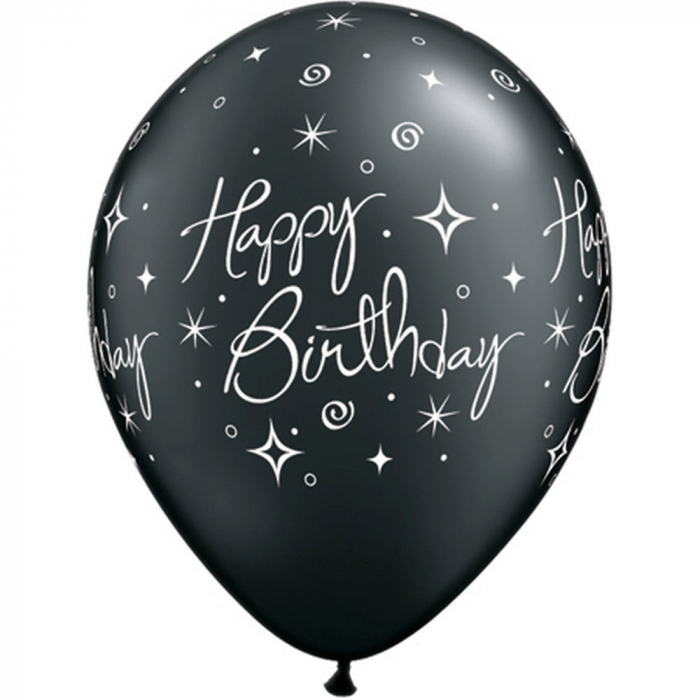 "Baloane latex 11"" inscriptionate Birthday Elegant Sparkles & Swirls Asortate,  DB25235 2"
