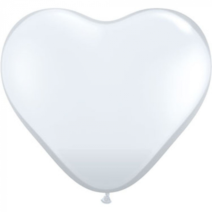 Baloane Latex Heart Diamond Clear 26 cm DB43721 0