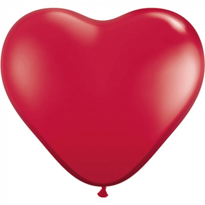 Baloane Latex Heart Ruby Red 1 buc 26 cm DB43732 0