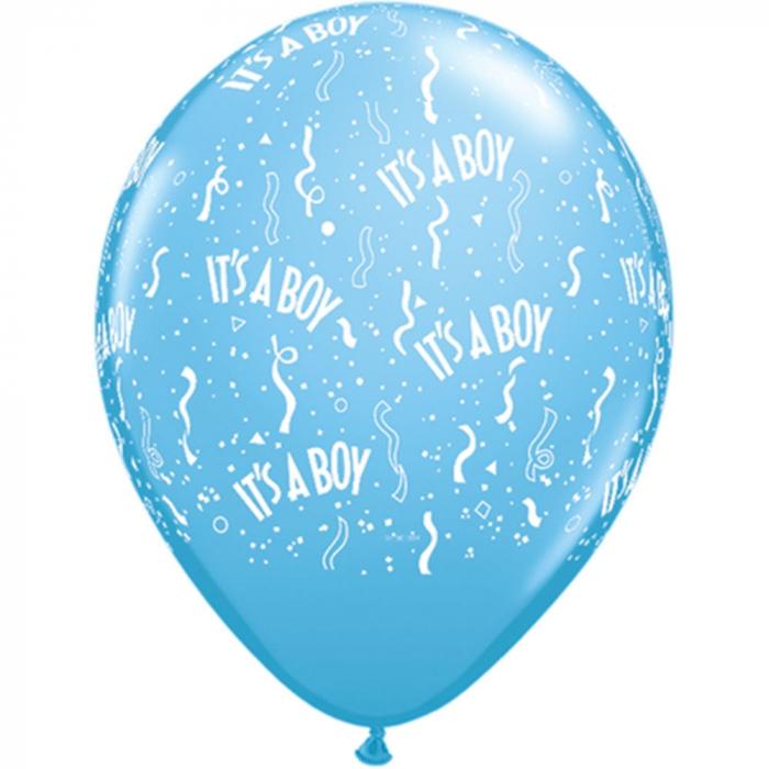 Baloane latex inscriptionate it's a boy round pale blue DB11754 0