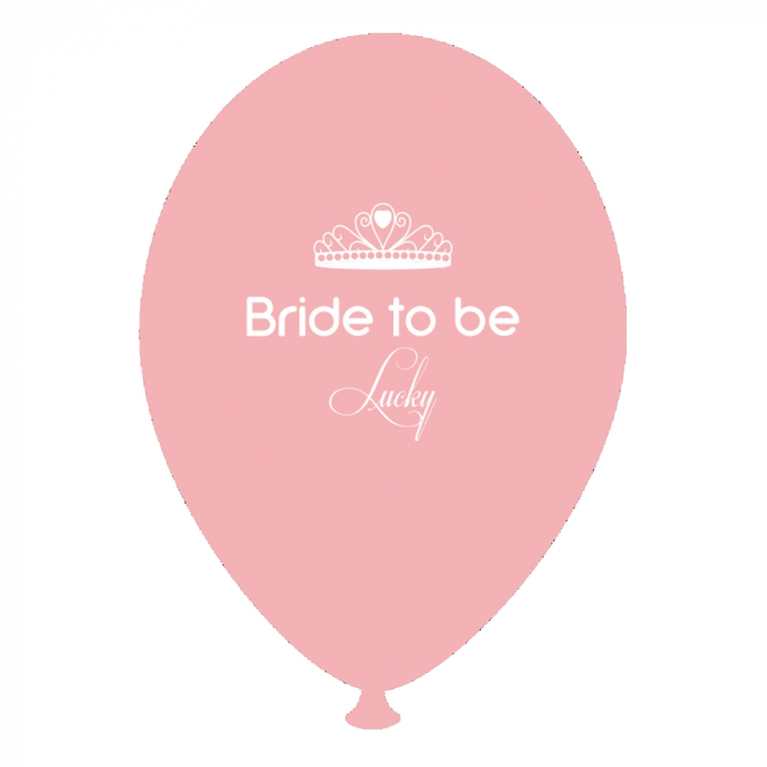 Baloane Latex Personalizate Bride to Be Lucky DB.GI.BTBL.PINK 0
