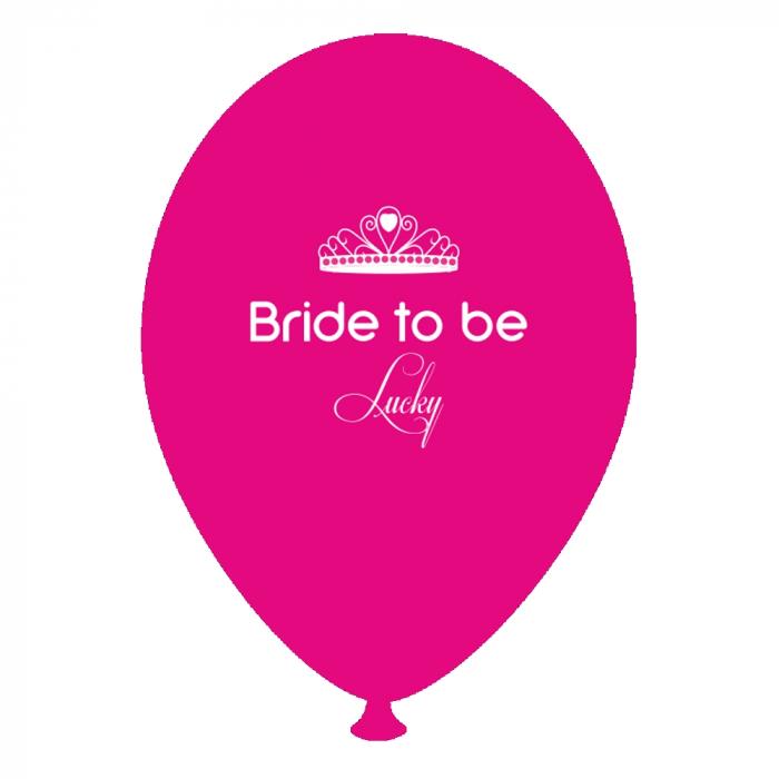 Baloane Latex Personalizate Bride to Be Lucky Fucsia DB.GI.BTBL.F 0