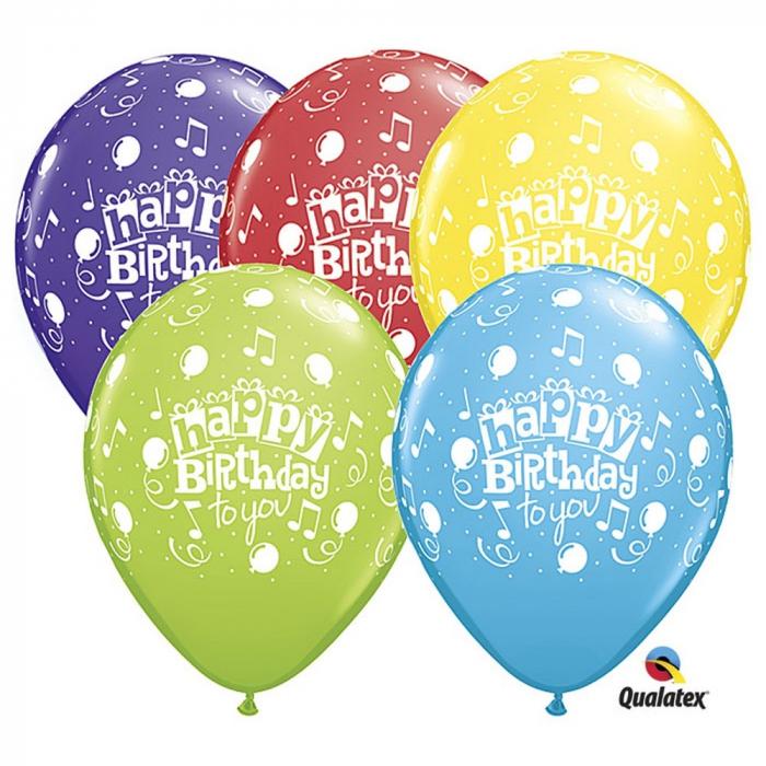 Baloane Latex Personalizate Happy Birthday To You Balloons Asortate1 buc 30 cm DB10390 [0]