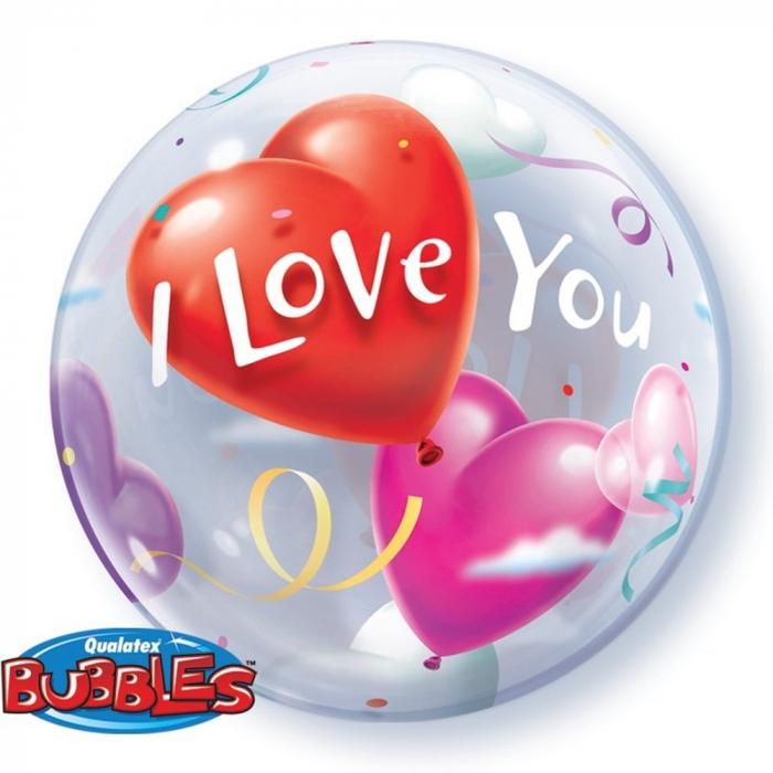 Balon Bubble 56cm I Love You DB16676 0