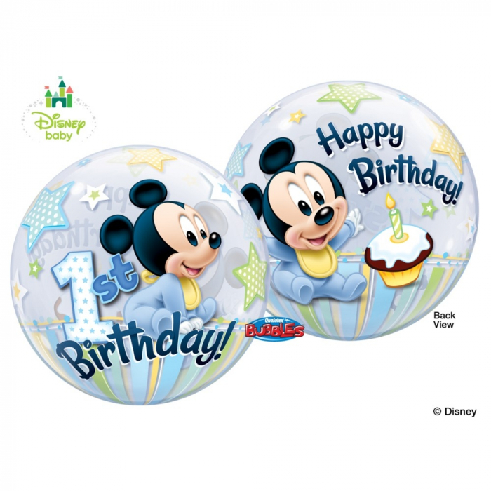 Balon bubble mickey mouse 1st birthday 56cm DB12864 0