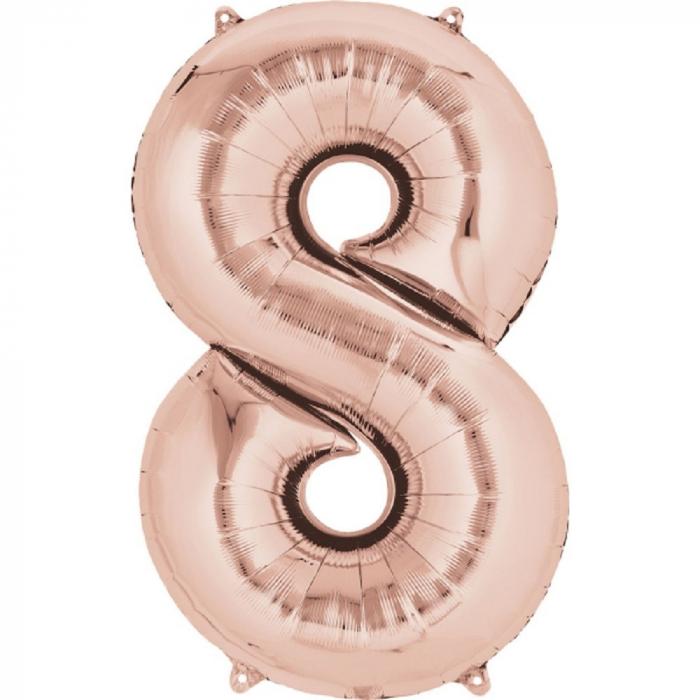 balon cifra 8 rose gold 86 cm DB36219 0
