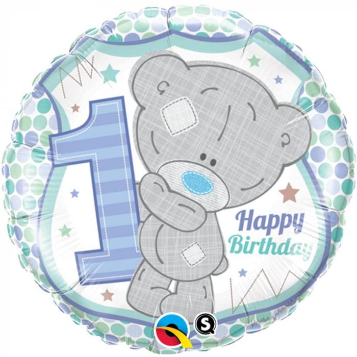 Balon Folie 1st Birthday Teddy Bear Boy 45 cm 1 buc DB20788 0