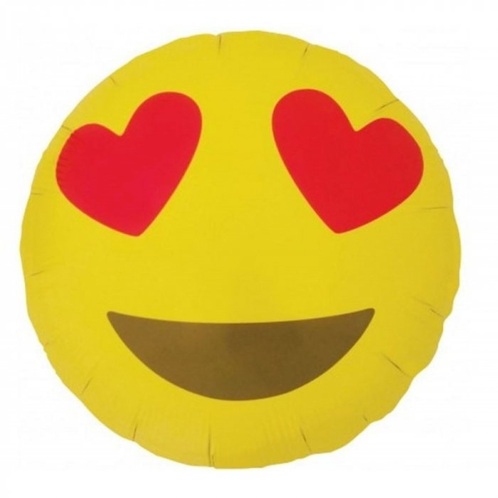 Balon folie 45 cm EMOJI Heart Eyes DB01270 0