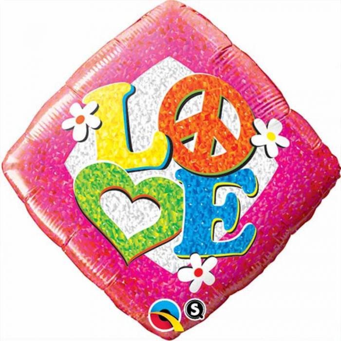 Balon Folie 45 cm Love Peace Sign DB29596 0