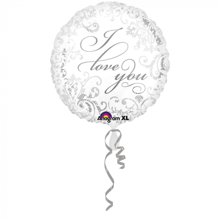 Balon Folie Argintie I Love You 45 cm 1 buc DB21976 0