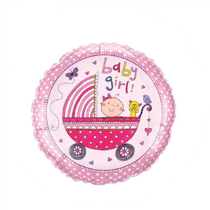 Balon Folie Baby Girl 45 cm 1 buc DB50294 0