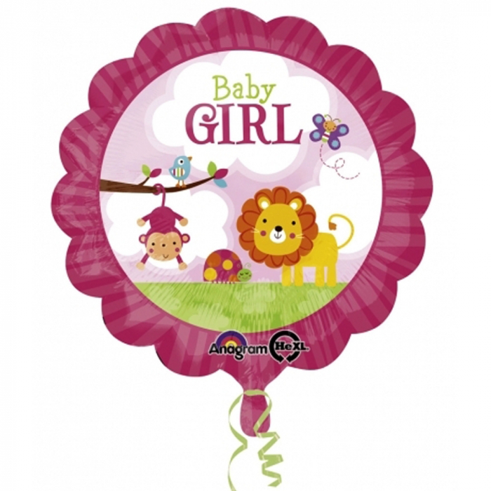 Balon Folie Baby Girl Safari 45 cm 1 buc DB2684001 0