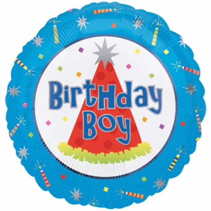 Balon Folie Birthday Boy 45 cm 1 buc DB10076-01 0