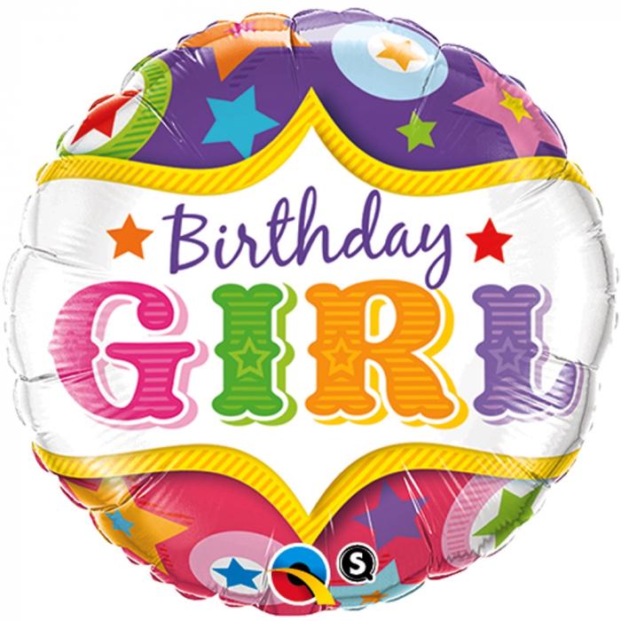 Balon Folie Birthday Girl 45 cm 1 buc DB25228 0