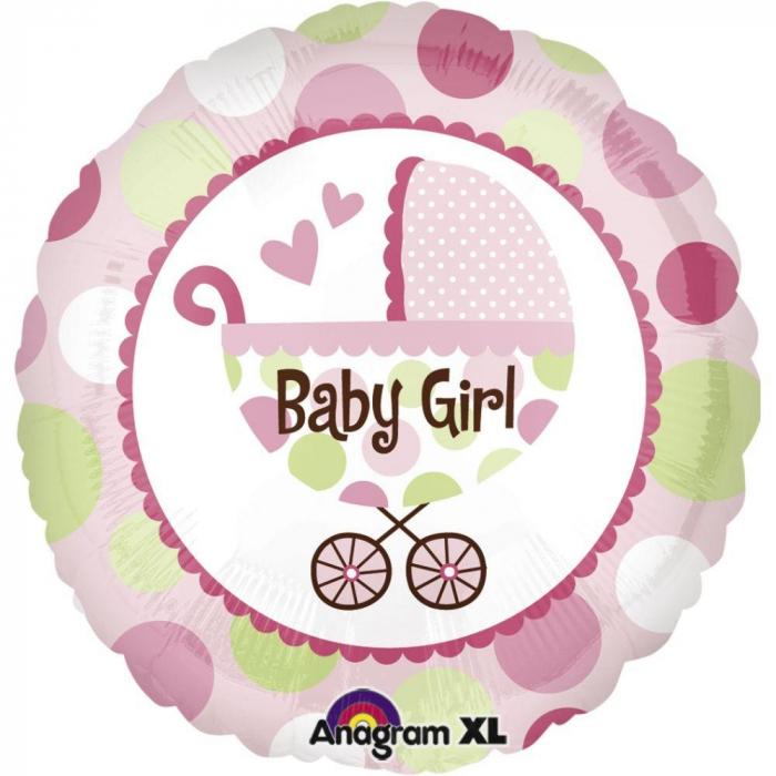 Balon Folie Carucior Baby Girl Roz 45 cm 1 buc DB21989 [0]