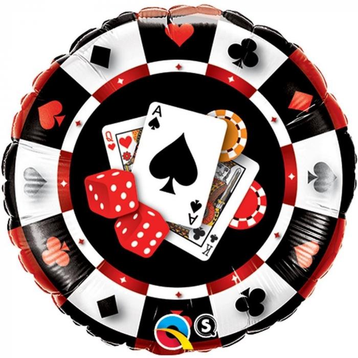 Balon Folie Casino 45 cm 1 buc DB43389 0