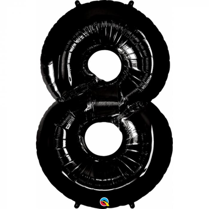 Balon folie cifra 8 negru 86cm amscan DB30147 0