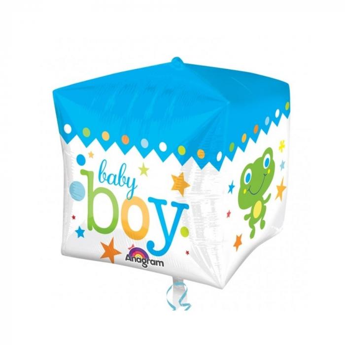 Balon Folie Cube Baby Boy 38x40 cm 1 buc DB28381 0