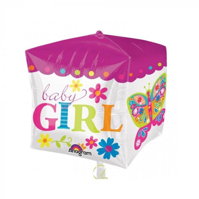 Balon Folie Cube Baby Girl 38x40 cm 1 buc DB28382 0