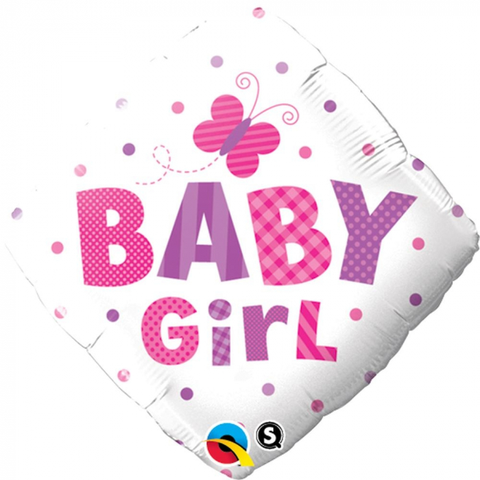 Balon Folie Diamond Baby Girl Fluture 45 cm 1 buc DB14659 0