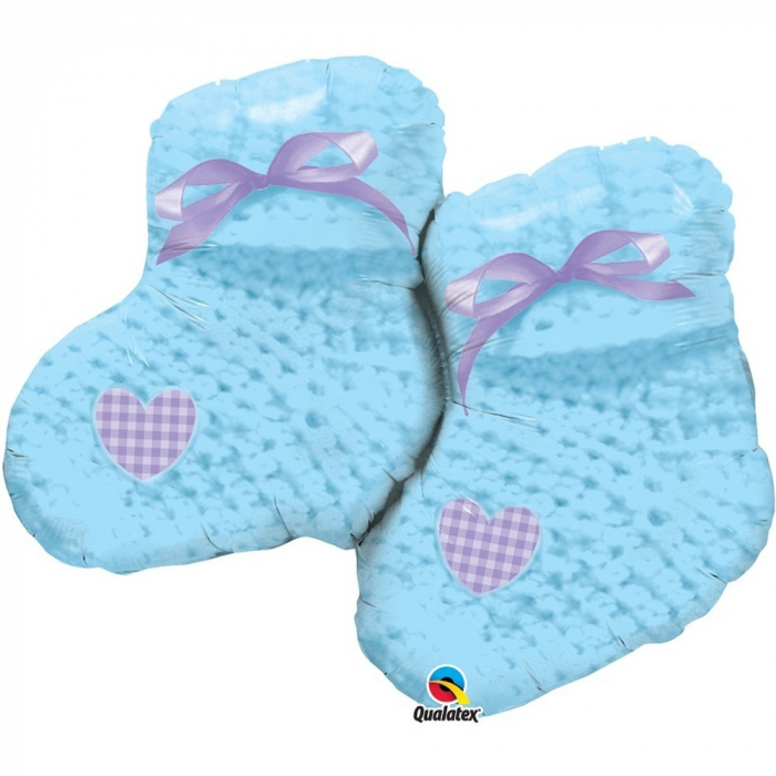 Balon Folie Figurina Baby Boy Booties 90 cm 1 buc DB60719 0