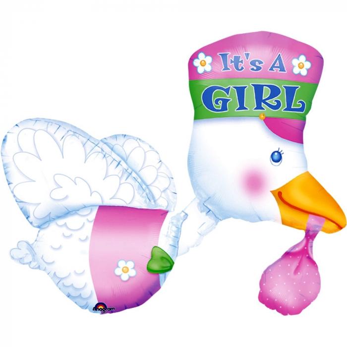 Balon folie figurina barza este fetita 58x81cm DB07026 0