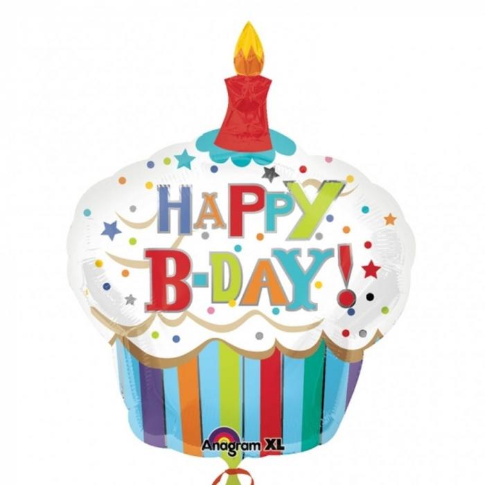Balon Folie Figurina Birthday Cupcake 91x74 cm 1 buc DB24477 0