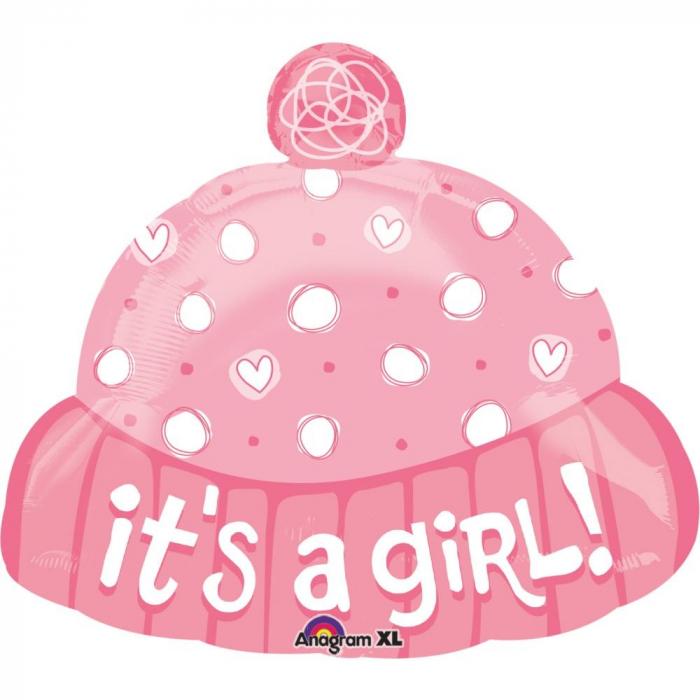 Balon Folie Figurina Caciulita It`s A Girl 45 cm 1 buc DB21984 0
