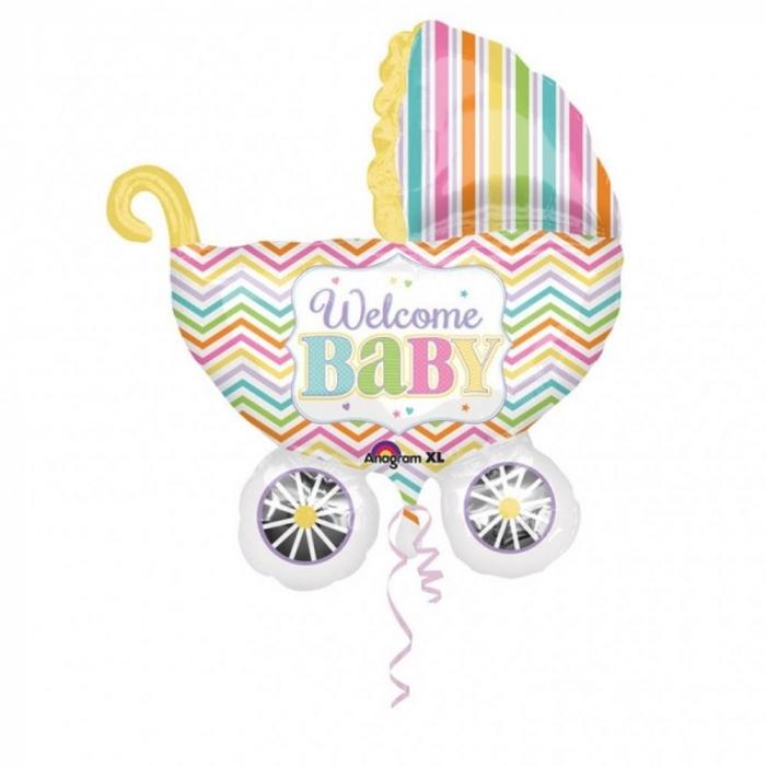 Balon Folie Figurina Carucior Welcome Baby 71x79 cm DB31588 0