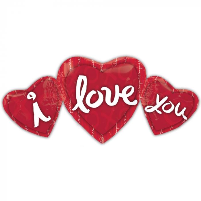 Balon folie figurina I Love You 86x41cm DB1491901 [0]