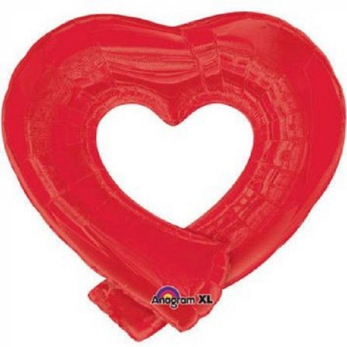 Balon folie figurina inima rosie 74x69cm DB14932 0