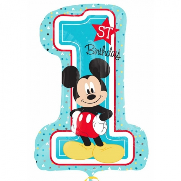 Balon folie figurina mickey mouse 1st birthday 71x48 cm DB34343 0