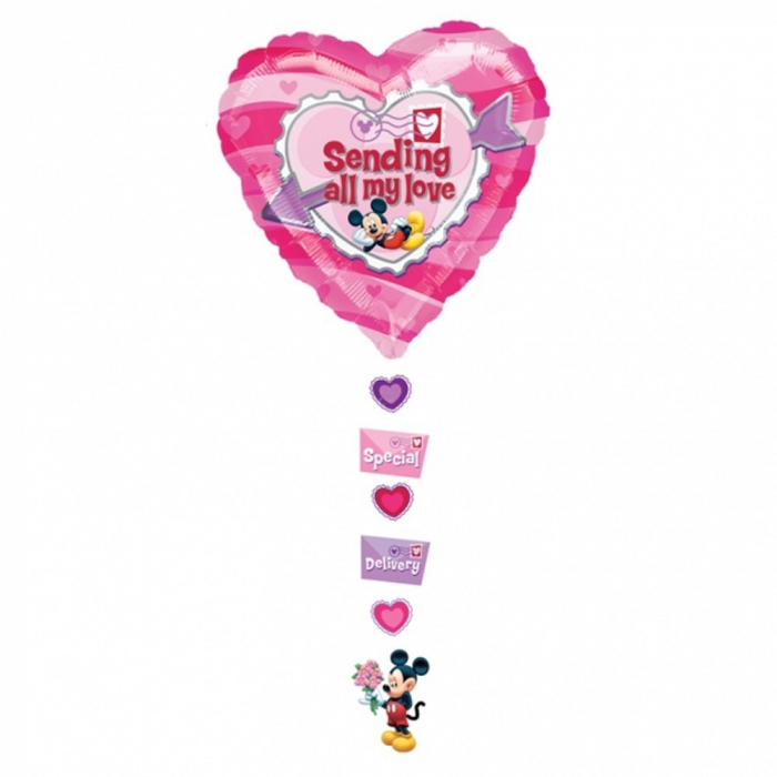 Balon folie figurina Mickey Sending All My love 61x137cm DB10468 0