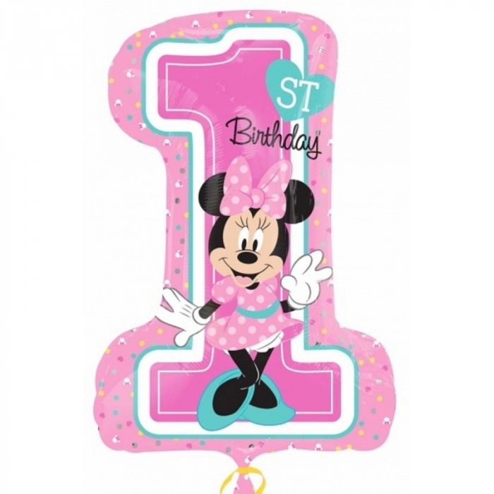Balon folie figurina minnie mouse 1st birthday 71x48 cm DB34352 0