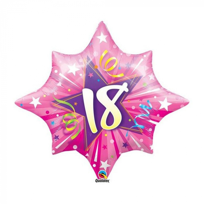 Balon Folie Figurina Shining Star Hot Pink 18 Ani 71 cm 1 buc DB20600 0