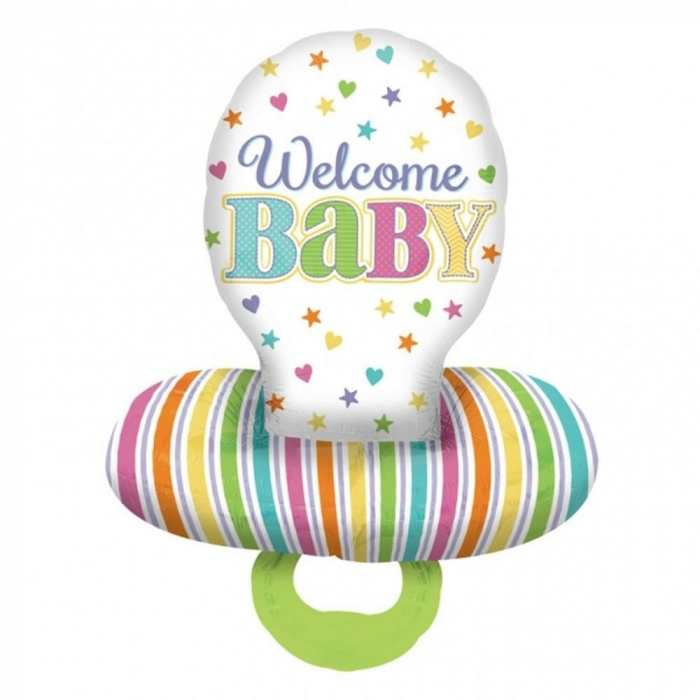 Balon Folie Figurina Suzeta Welcome Baby 55x73 cm 1 buc DB30952 0