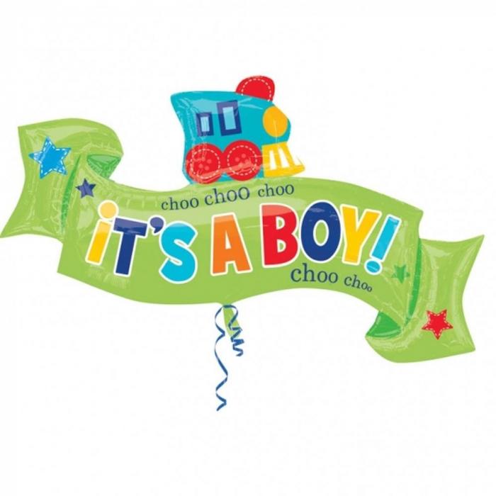 Balon Folie Figurina Welcome Little Boy 101x55 cm 1 buc DB30904 0