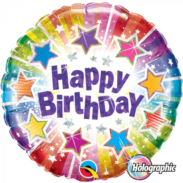 Balon Folie Holografic Happy Birthday 45 cm 1 buc DB35348 0