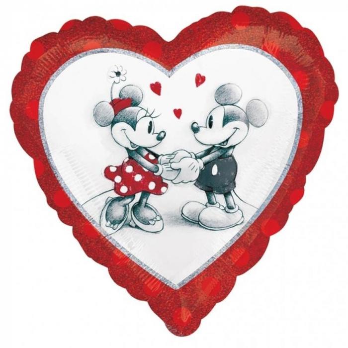 Balon folie inima Love Mickey & Minnie 45cm DB28040 0