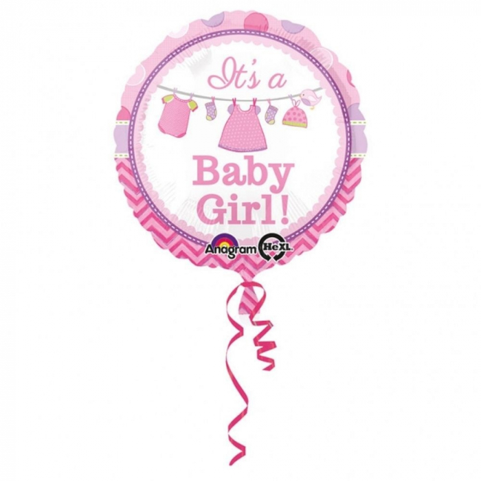 Balon Folie It`s a Baby Girl 45 cm 1 buc DB30909 4