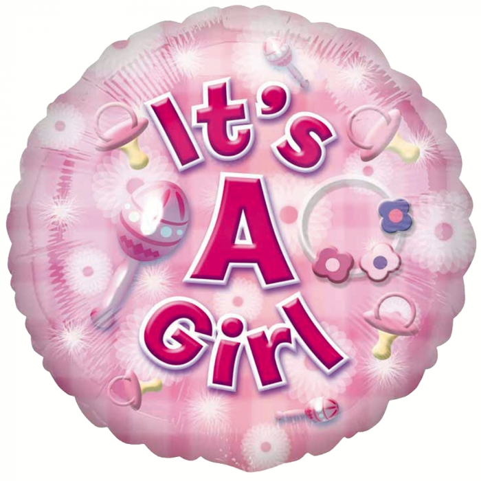 Balon Folie It`s A Girl 45 cm 1 buc DB2591801 0