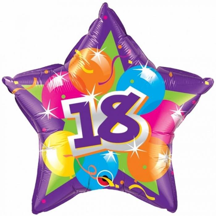 Balon Folie Majorat 18 Sparkling Star 45 cm 1 buc DB61857  0