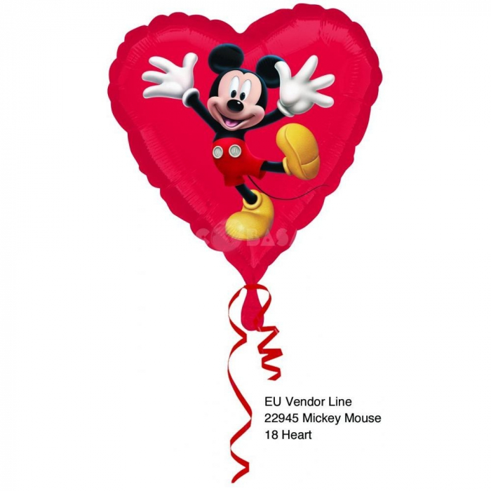 Balon Folie Mickey 45 cm 1 buc DB22945st 0