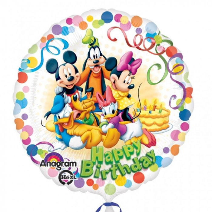 Balon Folie Mickey Friends Happy Birthday 45 cm 1 buc DB29007 0