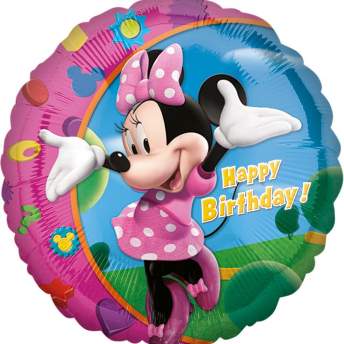 Balon Folie Minnie Mouse Happy Birthday 45 cm 1 buc DB17797 0
