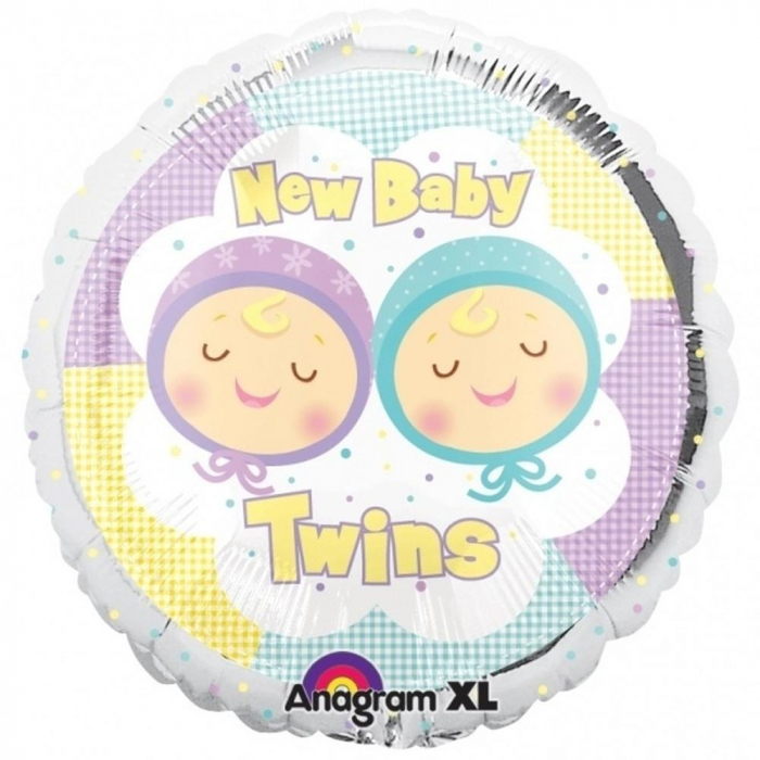 Balon Folie New Baby Twins 45 cm 1 buc DB19339 [0]