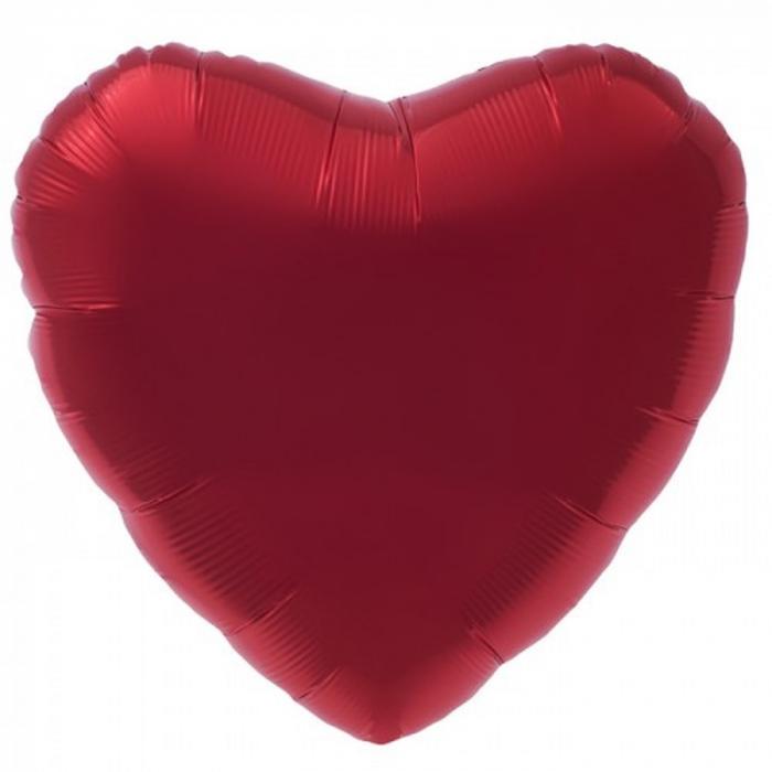 Balon folie rosu metalizat inima 45cm DB00748 [0]