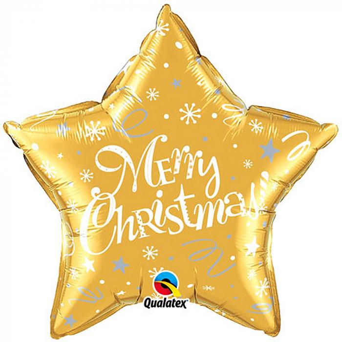Balon Folie Stea Merry Christmas Auriu 45 cm 1 buc DB99814 [0]